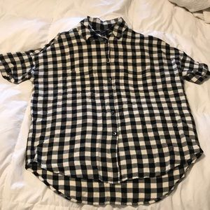 Madewell Plaid Courier Check Shirt XXS